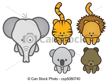 Animl clipart easy Animals wild Vector Illustration of