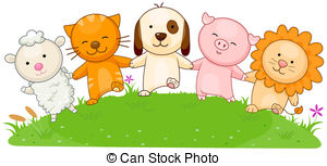 Animal clipart friendship Friends clip 121 Illustrations Clipping
