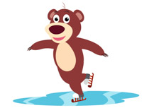 Animal clipart ice skating Ice clipart Pictures skating Search