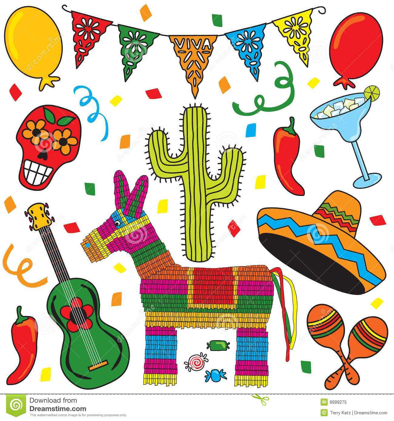 Animal clipart mexican Party  Clipart Mexican