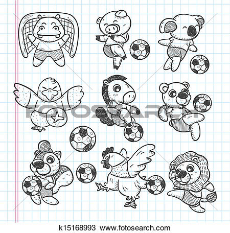 Animal clipart soccer Animal Clipart doodle soccer and