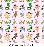 Animal clipart soccer Pattern pattern  csp15156190 animal