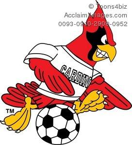 Animal clipart soccer Playing Clipart Cardinal Playing Cardinal