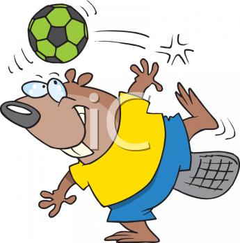 Animal clipart soccer Cartoon beaver in Description: this