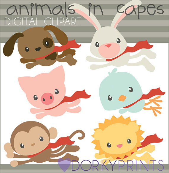 Animal clipart superhero Limited  Capes in Hero