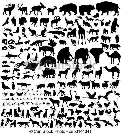 Animal Kingdom clipart black and white #10