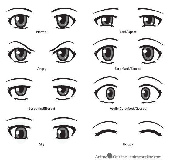 Drawn expression eye expression #6