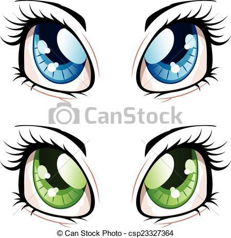 Anime clipart logo  Eyes Vector Art anime