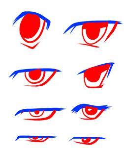 Anime clipart man eye How Eyes Step Anime Step