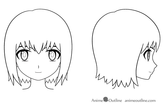 Anime clipart nose Free Download and How Outline