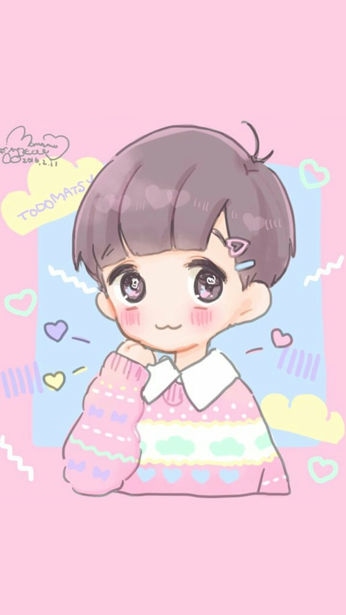 Anime clipart pastel Baby cartoon boy beautiful background