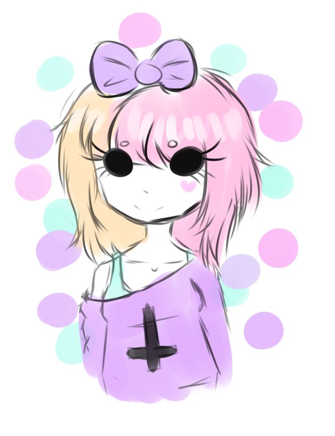 Anime clipart pastel Girl clipart anime goth Pastel