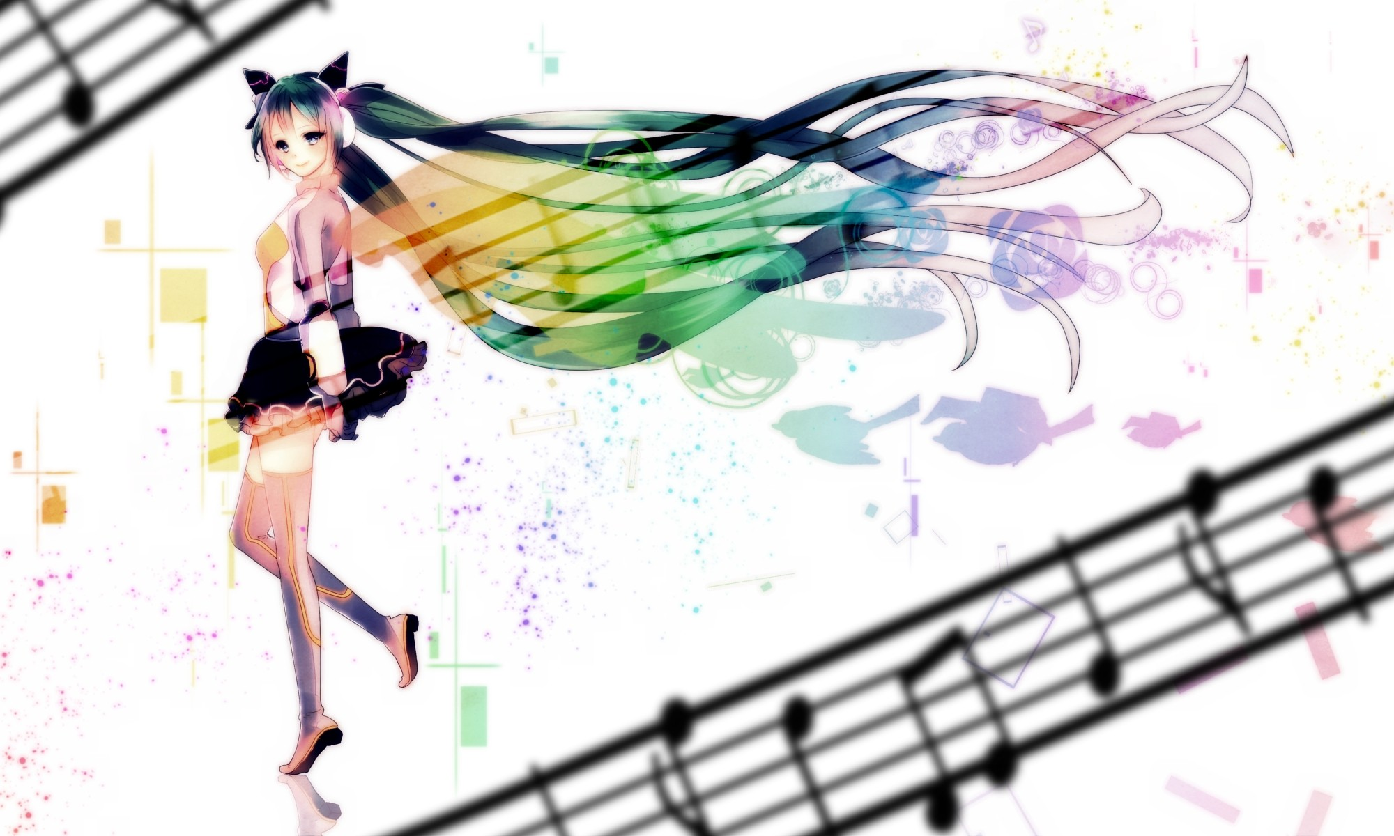 Anime clipart powerpoint template Background Anime PPT Vocaloid Powerpoint