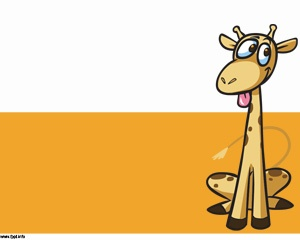 Anime clipart powerpoint template Great Giraffe PowerPoint and wildlife