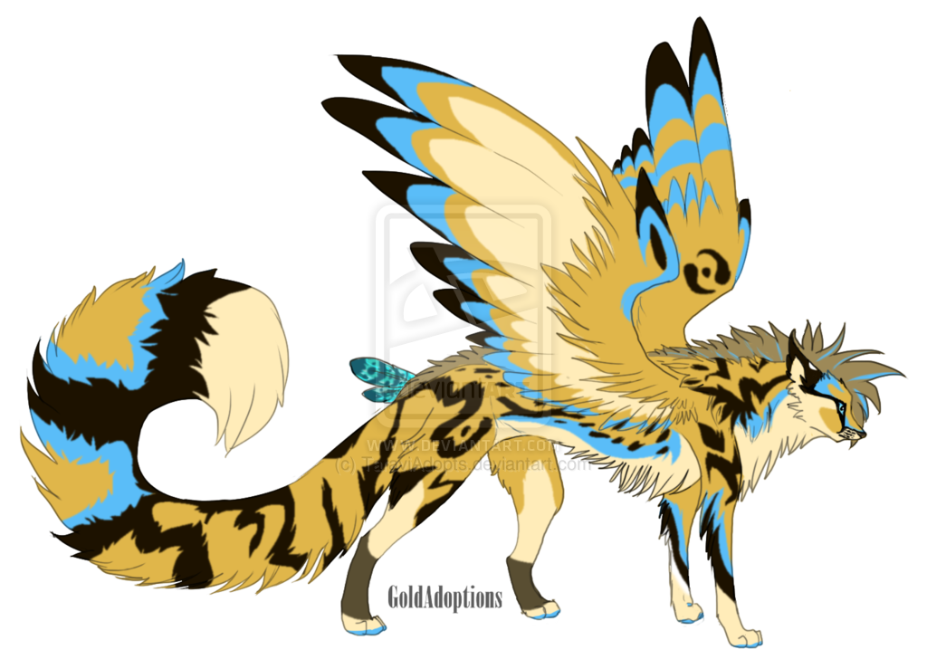Anime clipart warrior Anime animals Winged and winged
