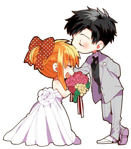Anime clipart wedding Pin on Anime/Manga wedding 25+