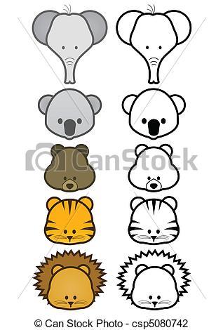 Animl clipart easy Illustration wild Clipart Animal of
