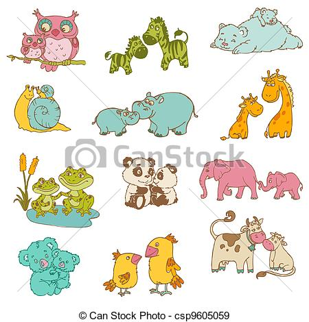 Animl clipart mother and baby And  Animals Mother Baby