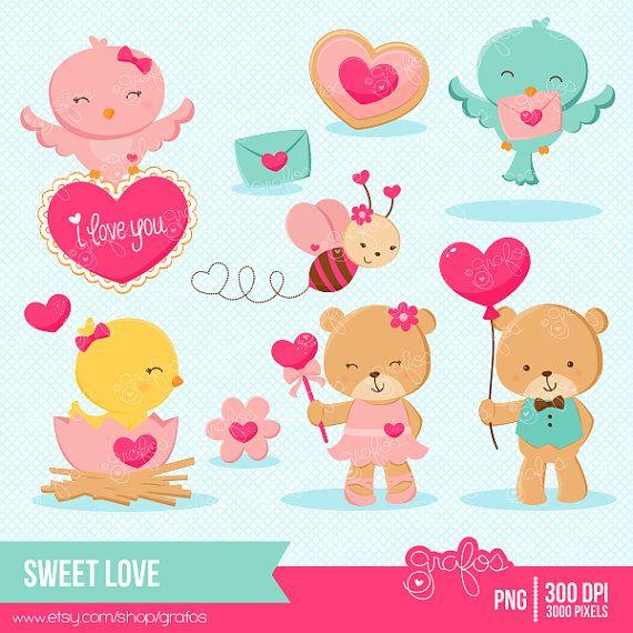 Animl clipart valentine 25+ Best Animals Pink Valentine