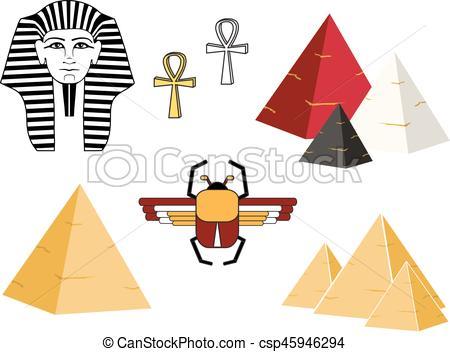 Csp45946294 Flat of Egypt pyramid