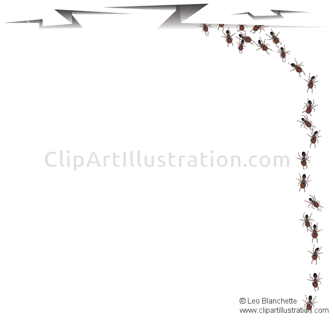 Ant clipart ant trail Vector Ants by Illustration Illustrations