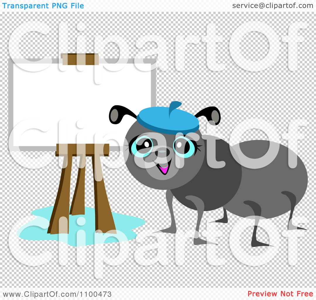 Ant clipart artist Artist Illustration Ant Vector Royalty