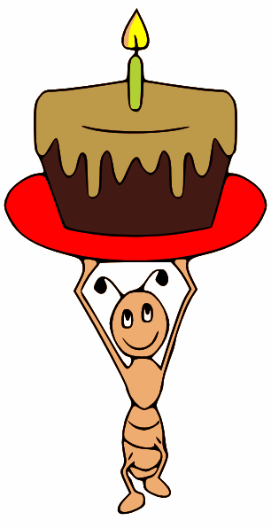 Ant clipart cake Carrying image Ant Clker Art