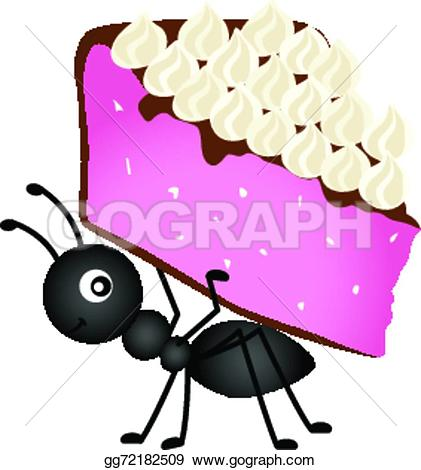 Ant clipart cake Image Vector Stock Clip Ant