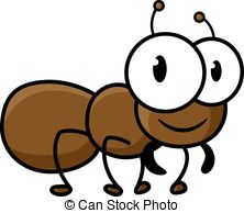 Ant clipart cute  little character brown brown