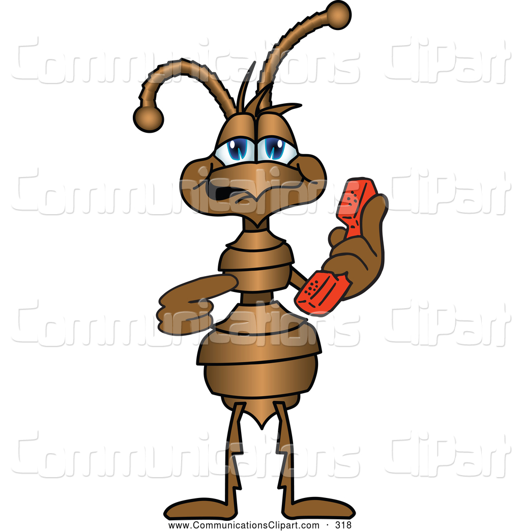 Ant clipart friendly Character Communication of Clipart Cartoon