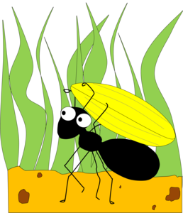 Ants clipart hard working During and Grasshopper the fun