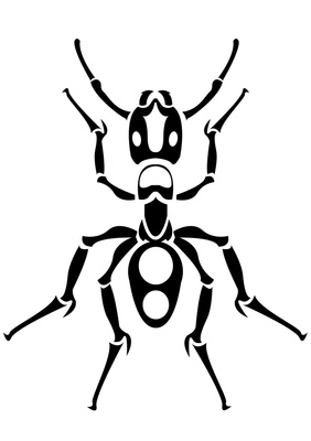 Drawn bug ant Ant tribal Drawing Drawing Ant