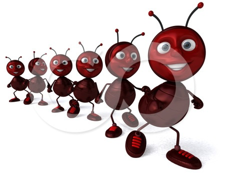 Ant clipart marching In Clipart Ants Ants line