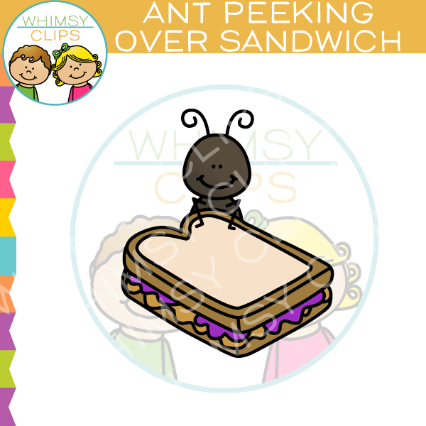Ant clipart whimsical Images Nature Over Sandwich Clip