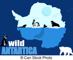 Antarctica clipart Stock 184 and Art illustration