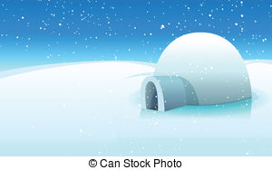 Antarctica clipart background A Polar Stock Igloo Illustration