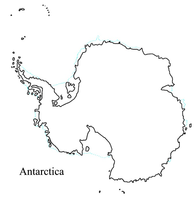 Antarctica clipart black and white Pole places: map Antarctica the
