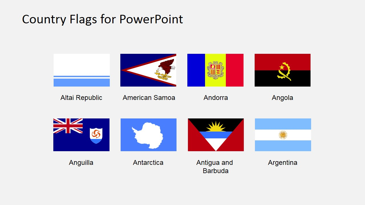 Antarctica clipart country Flags PowerPoint of SlideModel the