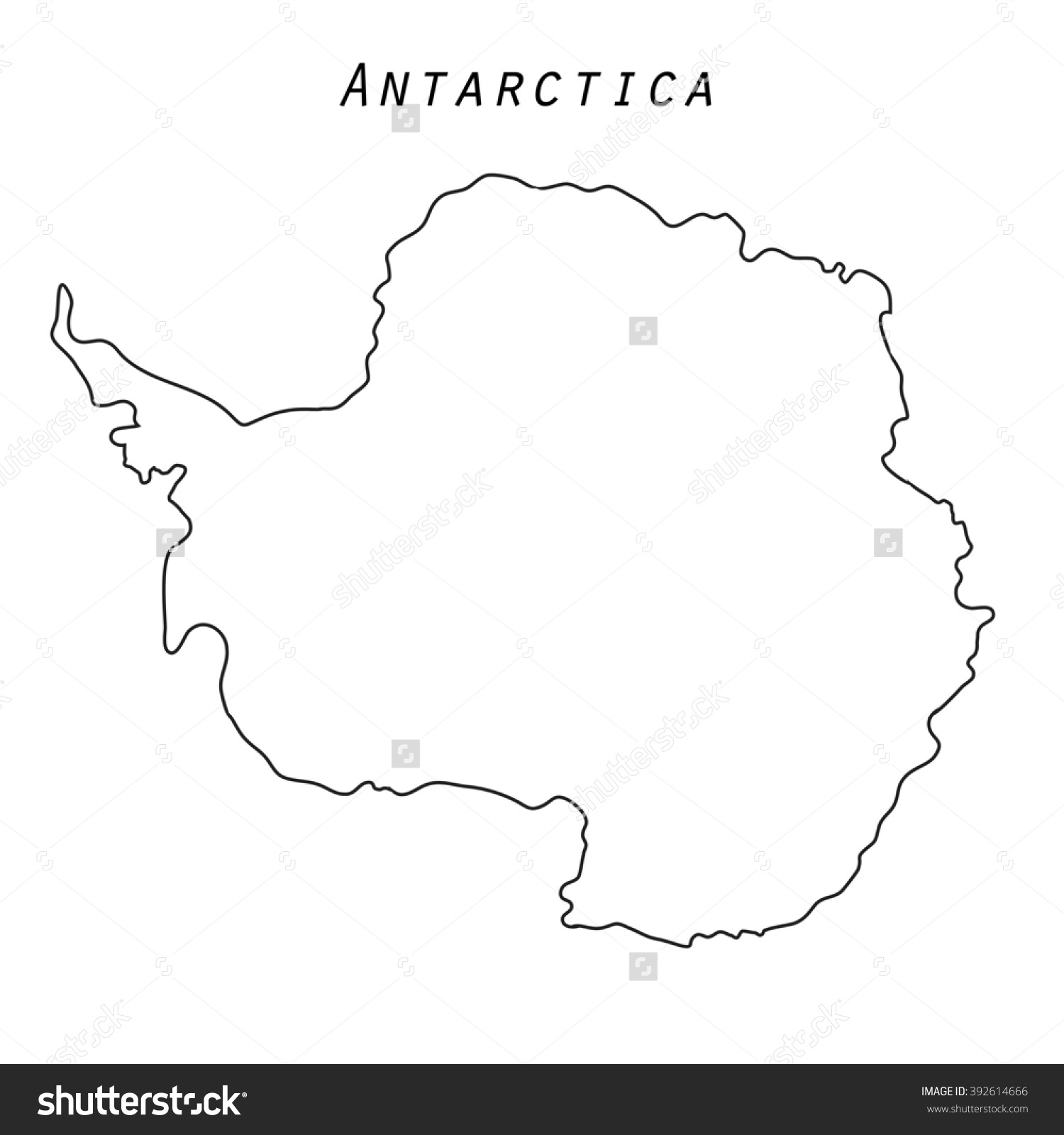 Antarctica clipart outline Stock South Map Antarctica With
