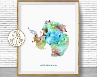 Antarctica clipart background Art Art Print Decor map