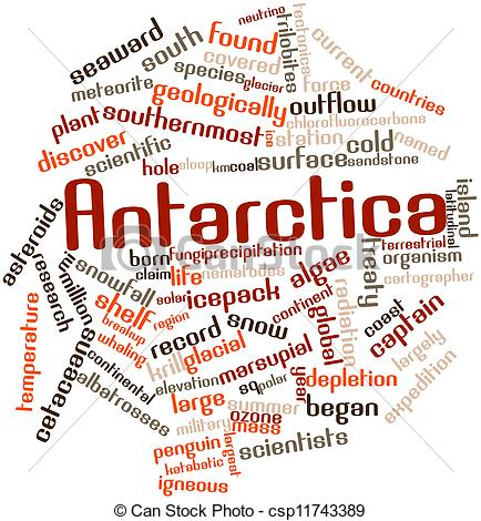 Antarctica clipart the word Word csp11743389 of Stock for