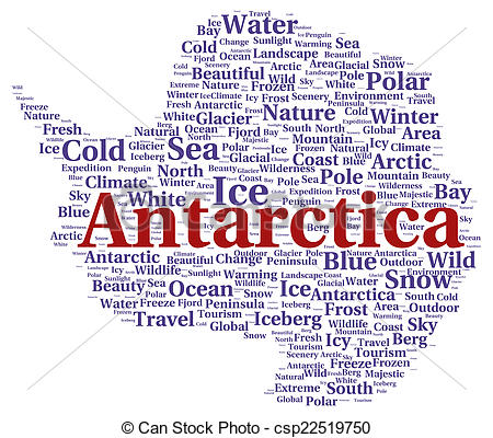 Antarctica clipart the word Of word csp22519750 concept cloud