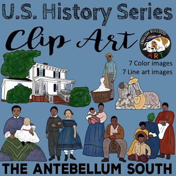 Antebellum clipart 1: The Set The South
