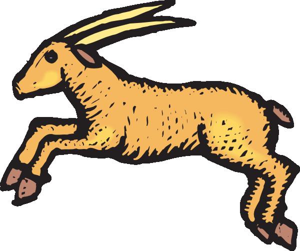 Antelope clipart cartoon  clip royalty art as:
