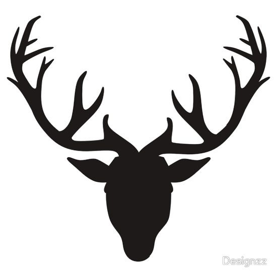 Antler clipart Clipart Black  Deer Clipart