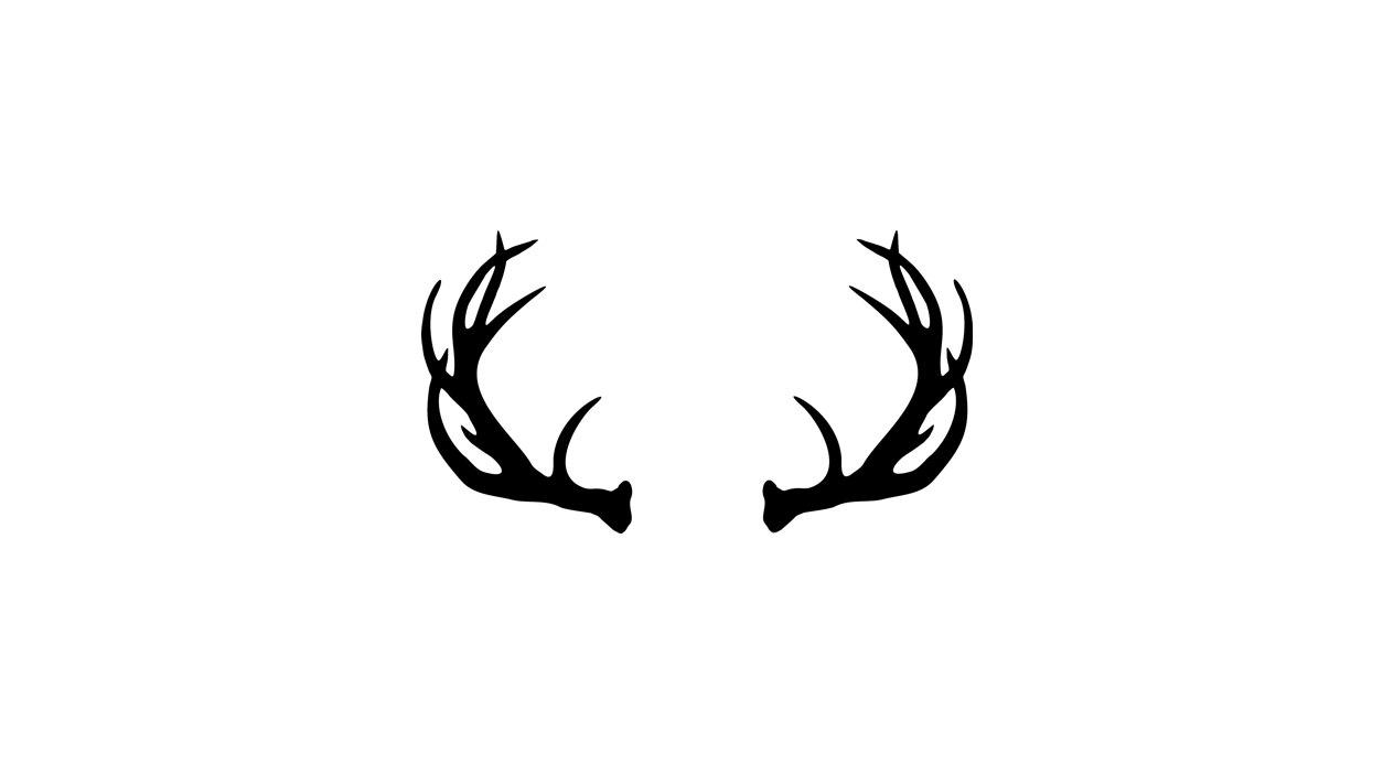 Wildlife clipart moose antler Antlers And Black  White