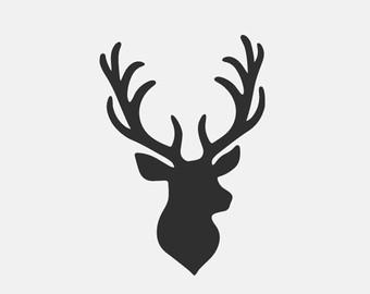 Antler clipart deer head Tribal antlers Deer File Silhouettes
