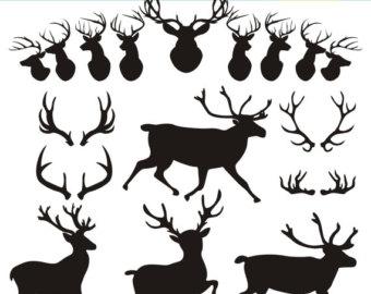 Antler clipart doe head Clip Art Animals SVG svg