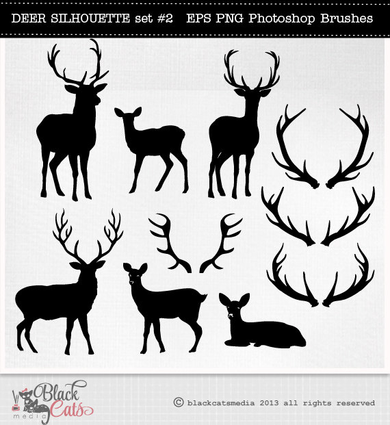 Antler clipart printable BlackCatsMedia Cliparts  and Deer