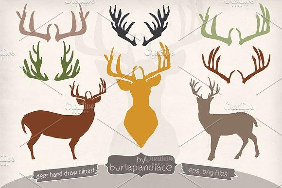 Antler clipart reindeer head Deer/Antlers clipart Illustrations deer/Antlers Illustrations